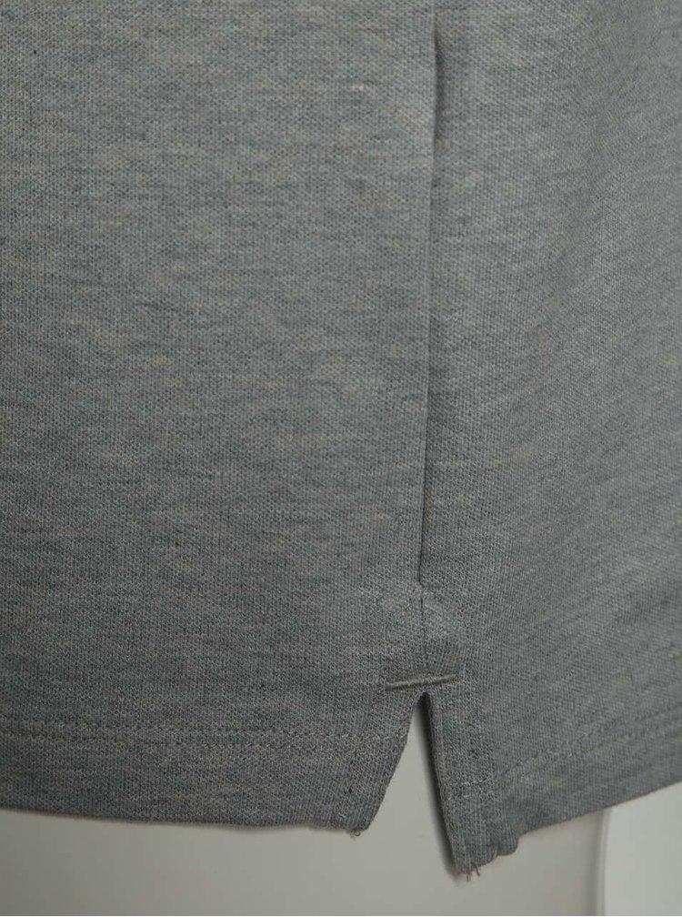 Šedé triko Selected Homme Maze