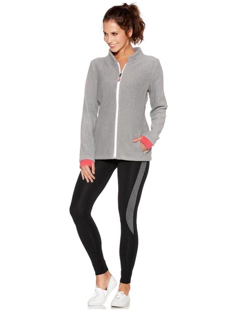 Bluză sport gri melanj M&Co cu guler tunică