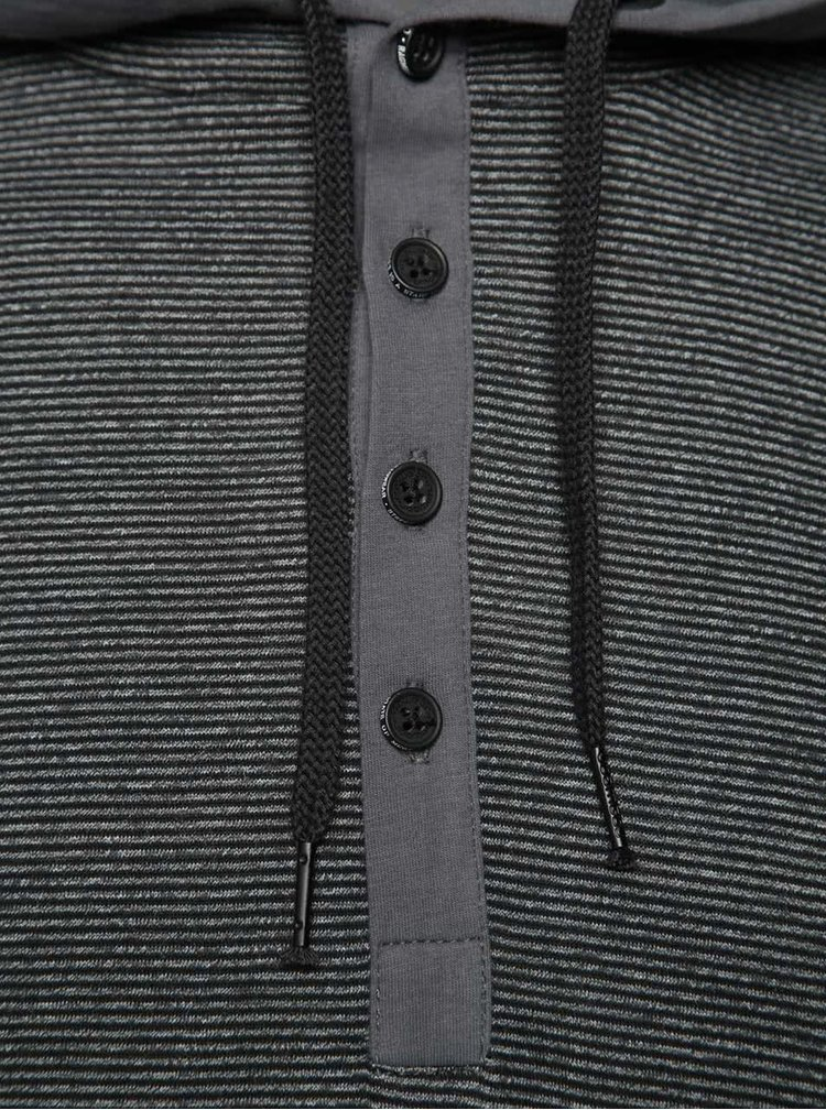 Hanorac negru Ragwear Fall cu model în dungi