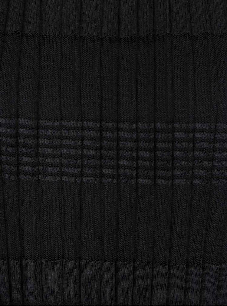 Černá plisovaná halenka bez rukávů VERO MODA Yade