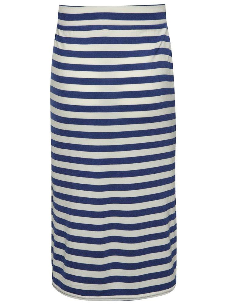 Krémovo-modrá pruhovaná holčičí sukně name it Habella