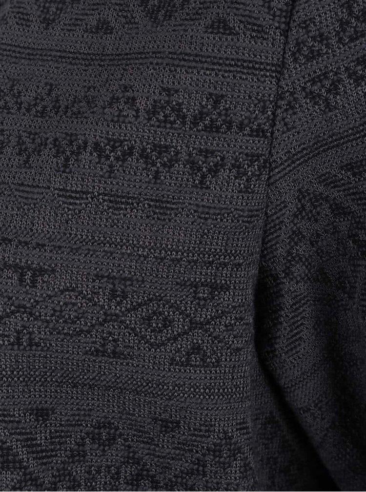 Tmavě šedý vzorovaný cardigan VERO MODA Tiggy