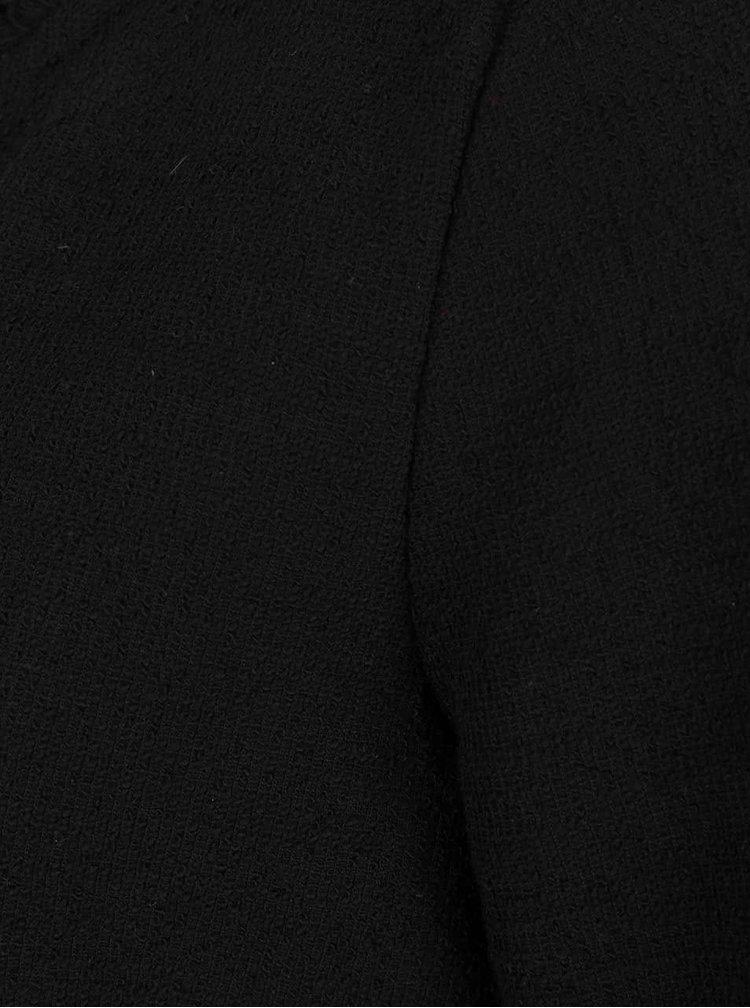 Černý kadrigan s roztřepenými lemy VERO MODA Iron