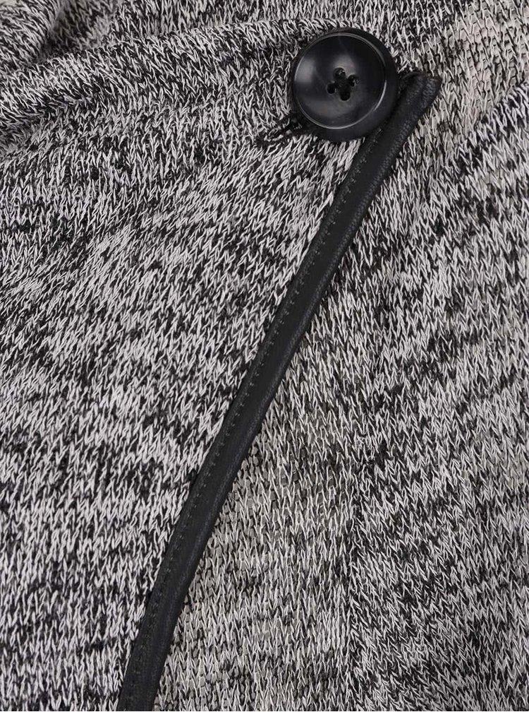 Cardigan gri melanj VERO MODA Almond cu închidere asimetrică