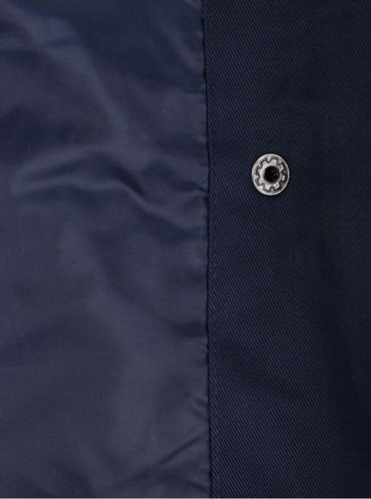 Jachetă subțire bleumarin VERO MODA Chanti cu guler înalt