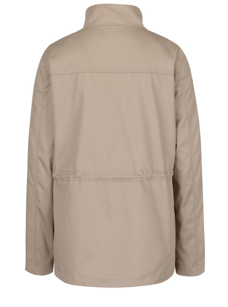 Jachetă bej VERO MODA Chanti cu guler înalt