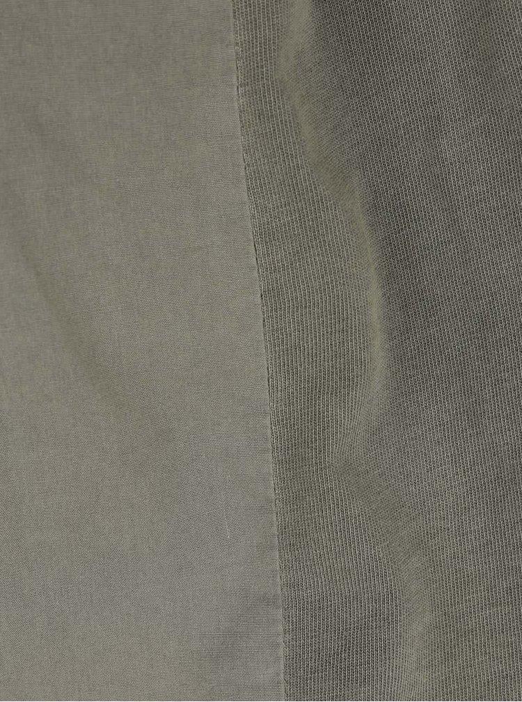 Zelené sako s žebrovanými boky VERO MODA Danny