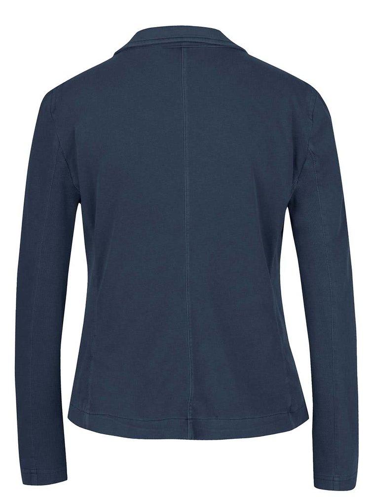 Tmavě modré sako s žebrovanými boky VERO MODA Danny