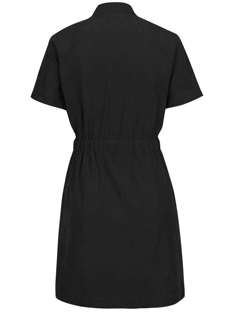 Černé šaty se stahováním v pase VERO MODA Nala