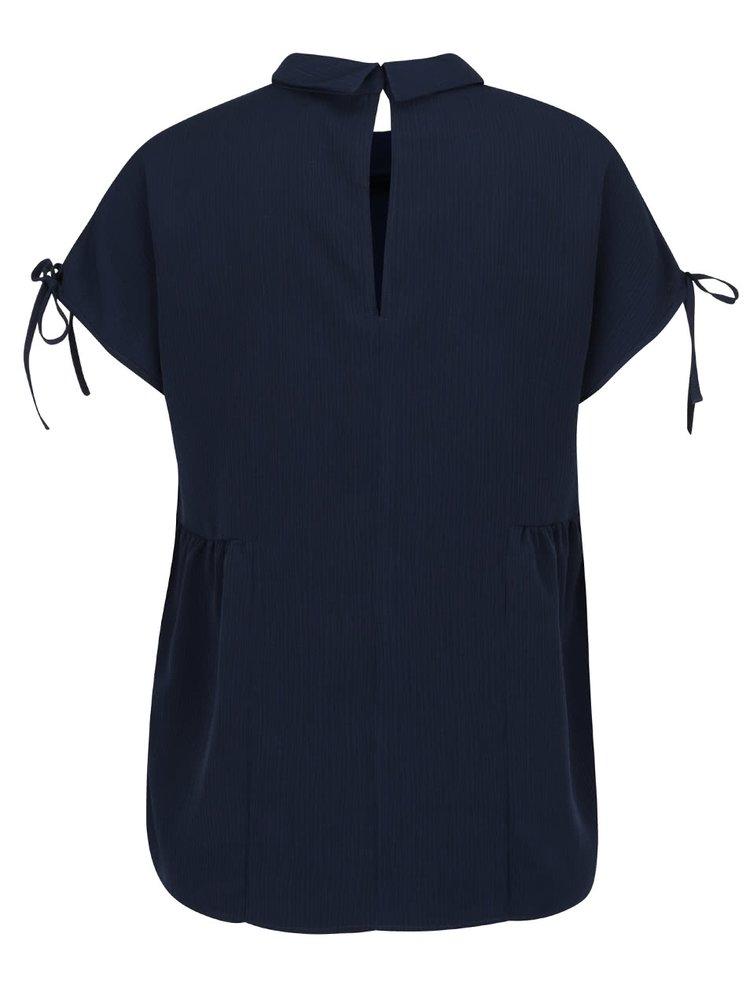 Bluza bleumarin VERO MODA Susie cu decolteu peter pan