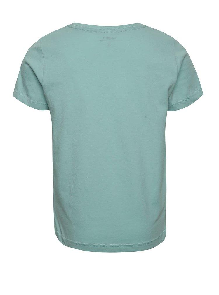 Světle modré klučičí triko s potiskem name it Hfrej