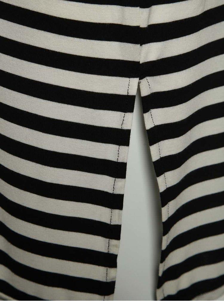 Černo-krémová pruhovaná holčičí sukně name it Habella