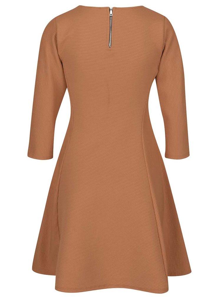 Hnědé žebrované šaty ZOOT