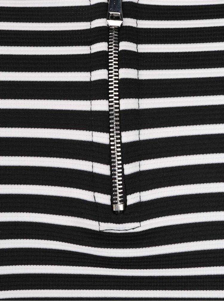 Bílo-černé pruhované šaty ZOOT