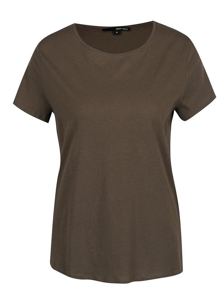 Zelené basic tričko TALLY WEiJL