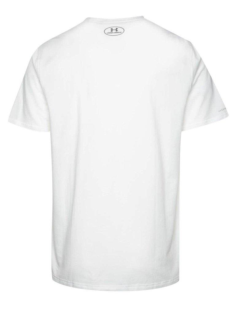 Tricou alb Under Armour Left Chest Lockup cu logo