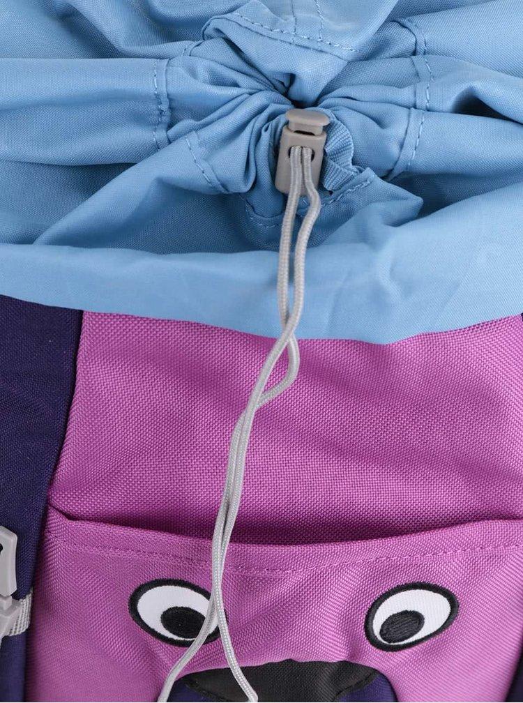 Fialový batoh ve tvaru psa Affenzahn