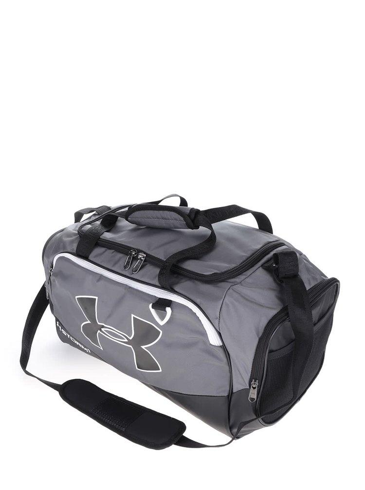 Černo-šedá pánská sportovní voděodolná taška 41 l Under Armour Duffel II.
