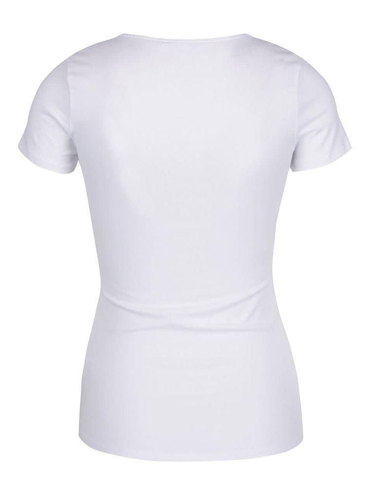 Tricou alb TALLY WEiJL cu șnururi