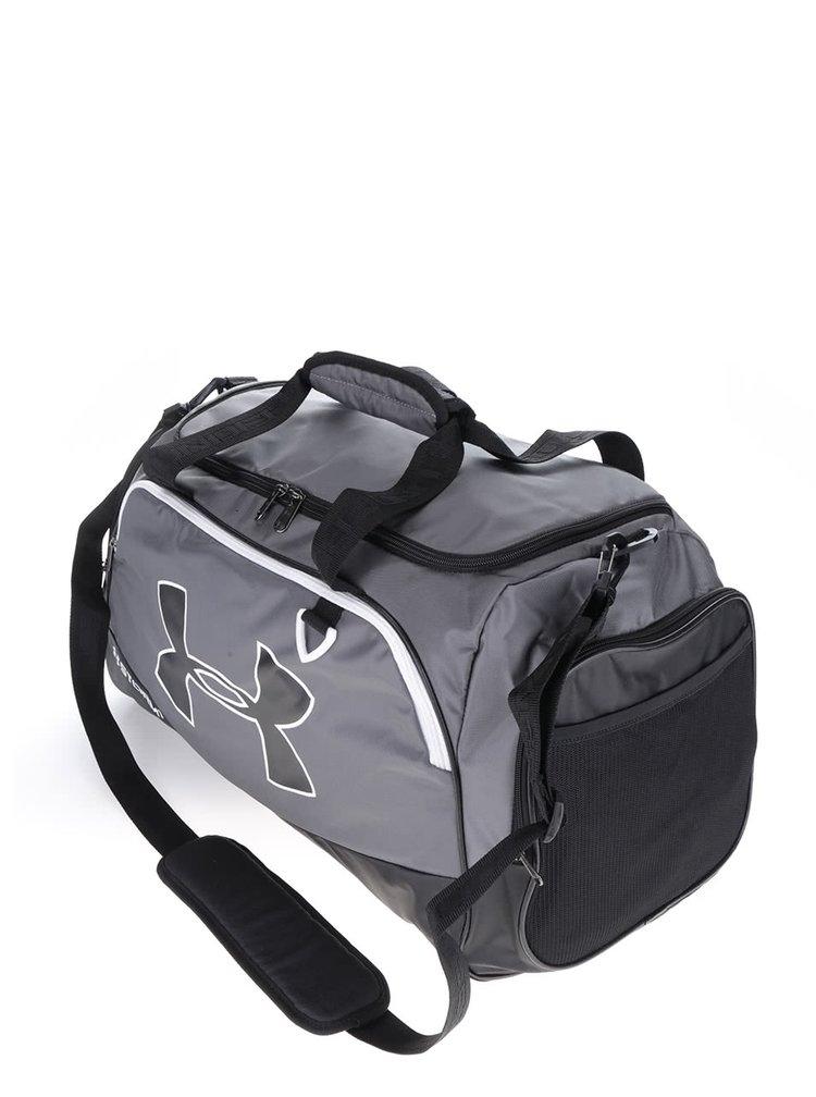 Černo-šedá pánská sportovní voděodolná taška 61 l Under Armour Duffel II.