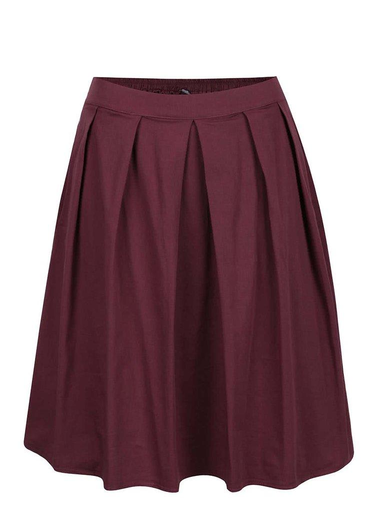 Vínová skládaná sukně ZOOT