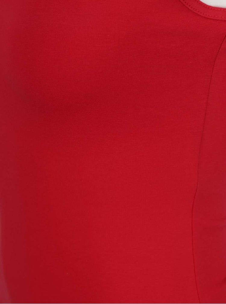 Červené tílko s úzkými ramínky TALLY WEiJL
