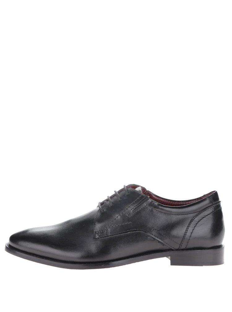 Pantofi negri s.Oliver din piele