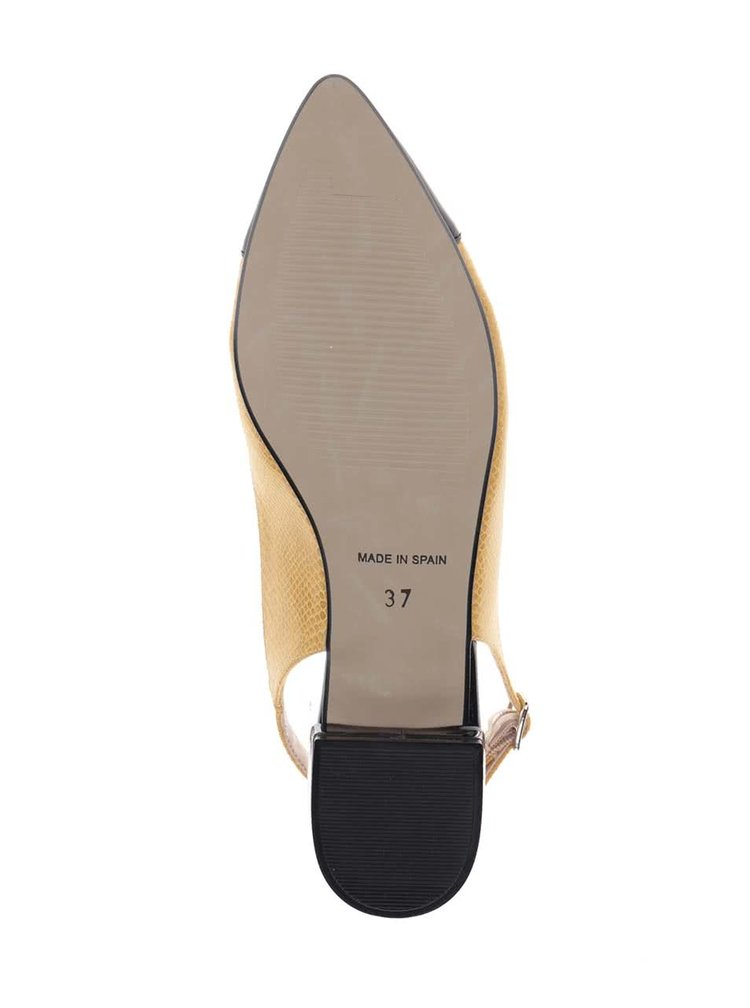 Sandale galbene cu detalii negre OJJU