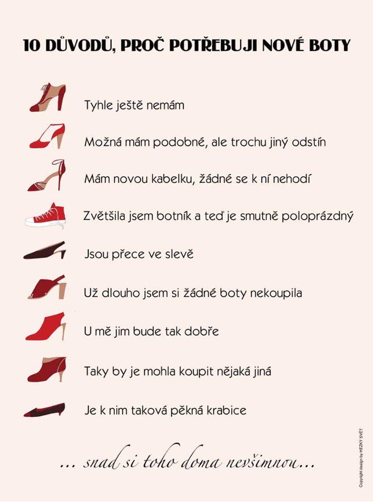 Světle růžový plakát  HEZKÝ SVĚT Boty