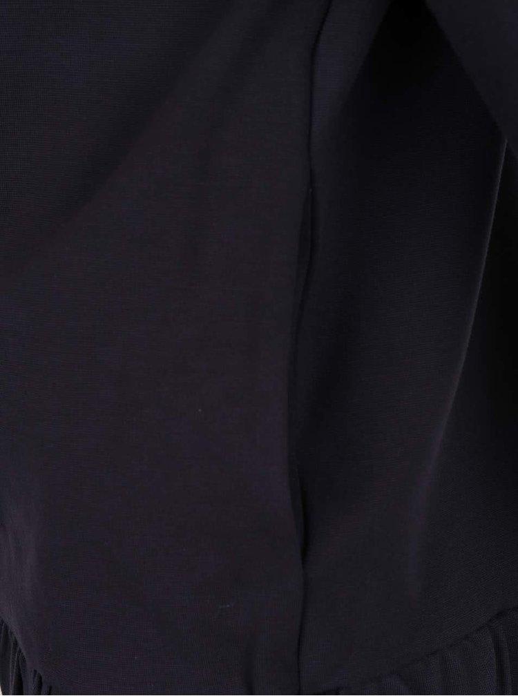 Bluză albastru închis Rich & Royal cu tiv plisat