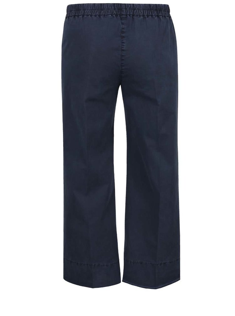 Šedomodré zkrácené volné kalhoty Rich & Royal