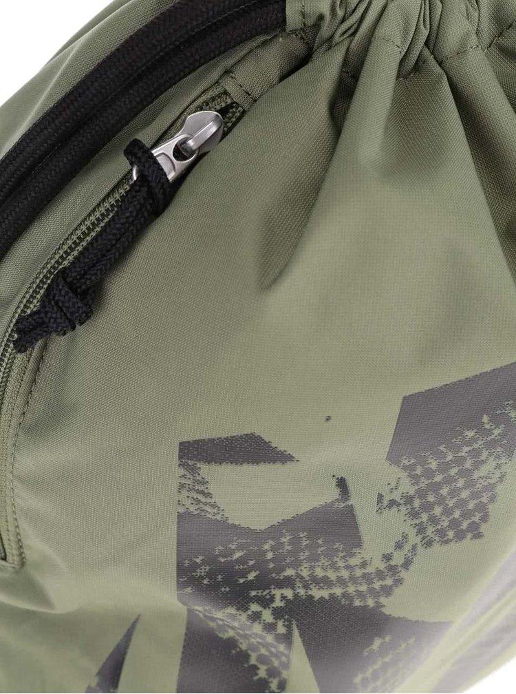 Zelený unisex vak s potiskem Nike 13 l