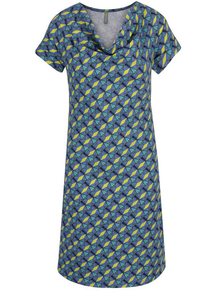 Modré vzorované šaty Tranquillo Matilda