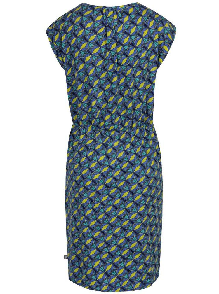 Modré vzorované šaty Tranquillo Abby