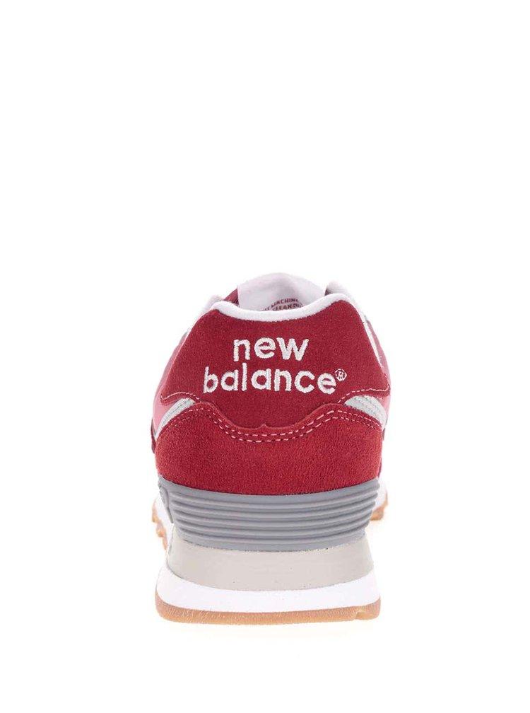 Červené pánské semišové tenisky New Balance