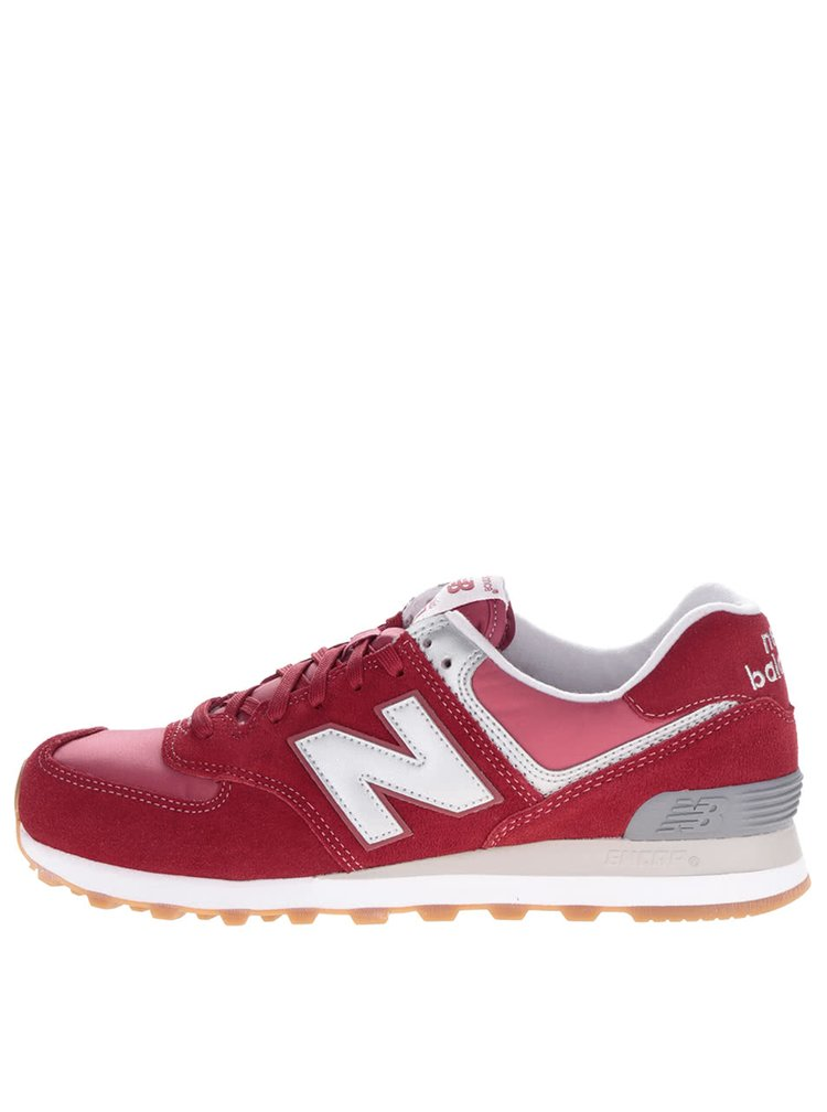 Pantofi sport roșii New Balance 574 Classic