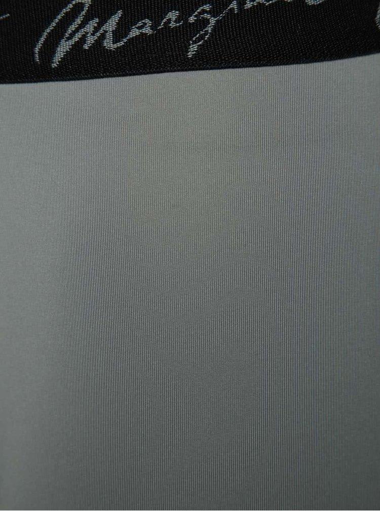 Světle šedé lesklé boxerky Marginal Promo