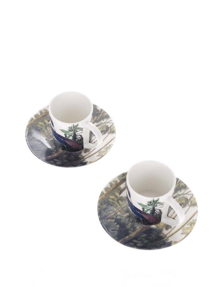Set de cesti si farfurii pentru espresso - Magpie Birds