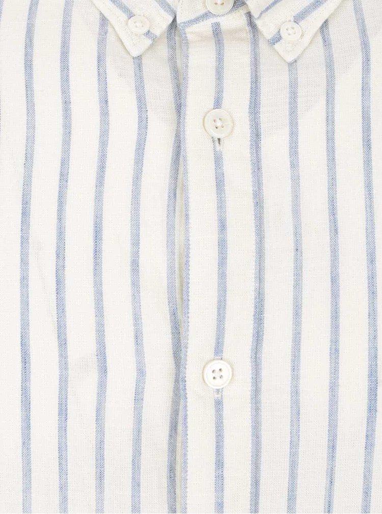 Modro-krémová pruhovaná košeľa Selected Homme Two Spun