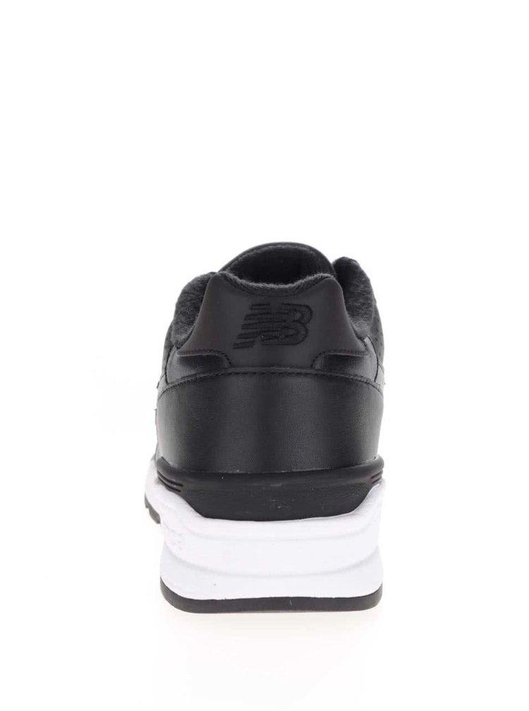 Černé pánské kožené tenisky New Balance