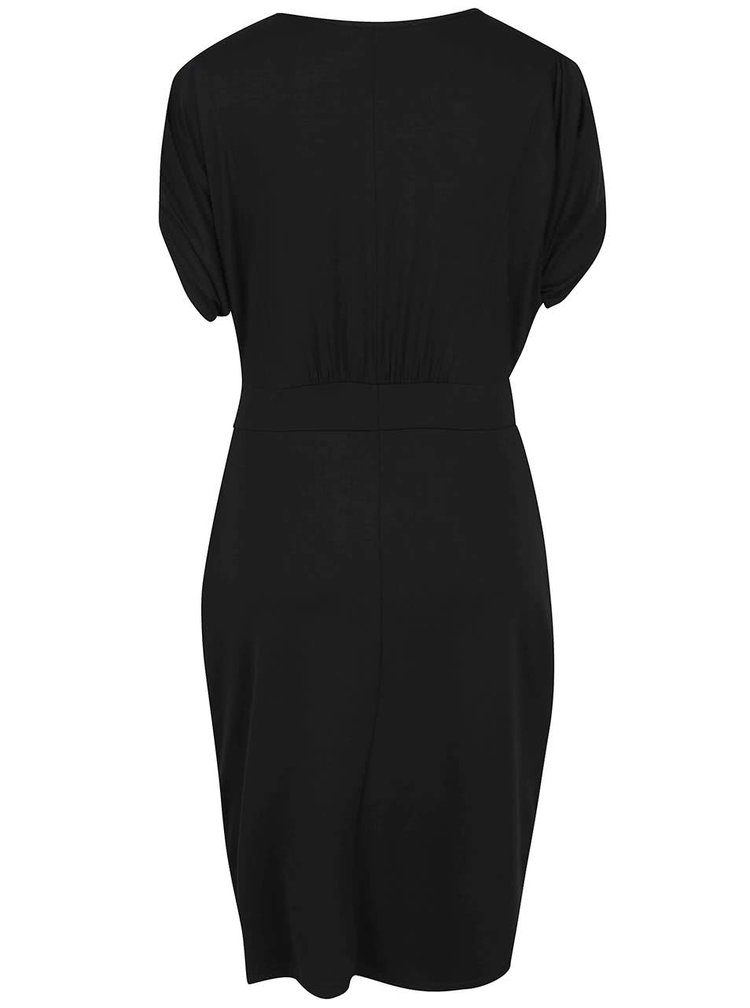 Černé těhotenské/kojicí šaty s kapsami Mama.licious Bruna