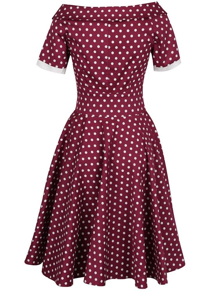 Fialové puntíkované šaty Dolly & Dotty