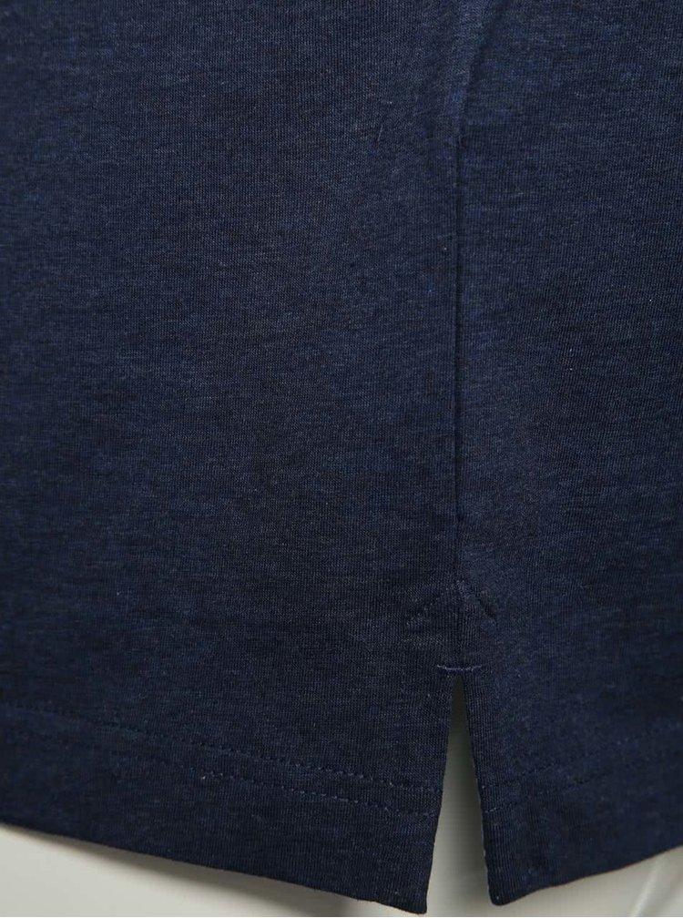 Tricou polo bleumarin bugatti din bumbac cu logo