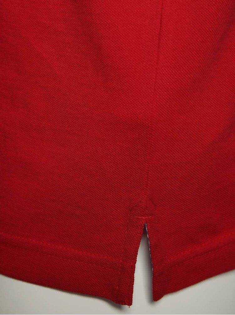 Modro-červená pánska polokošeľa bugatti