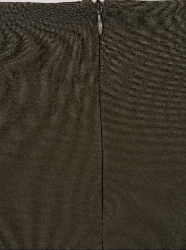 Fustă verde închis ZOOT cu model petrecut