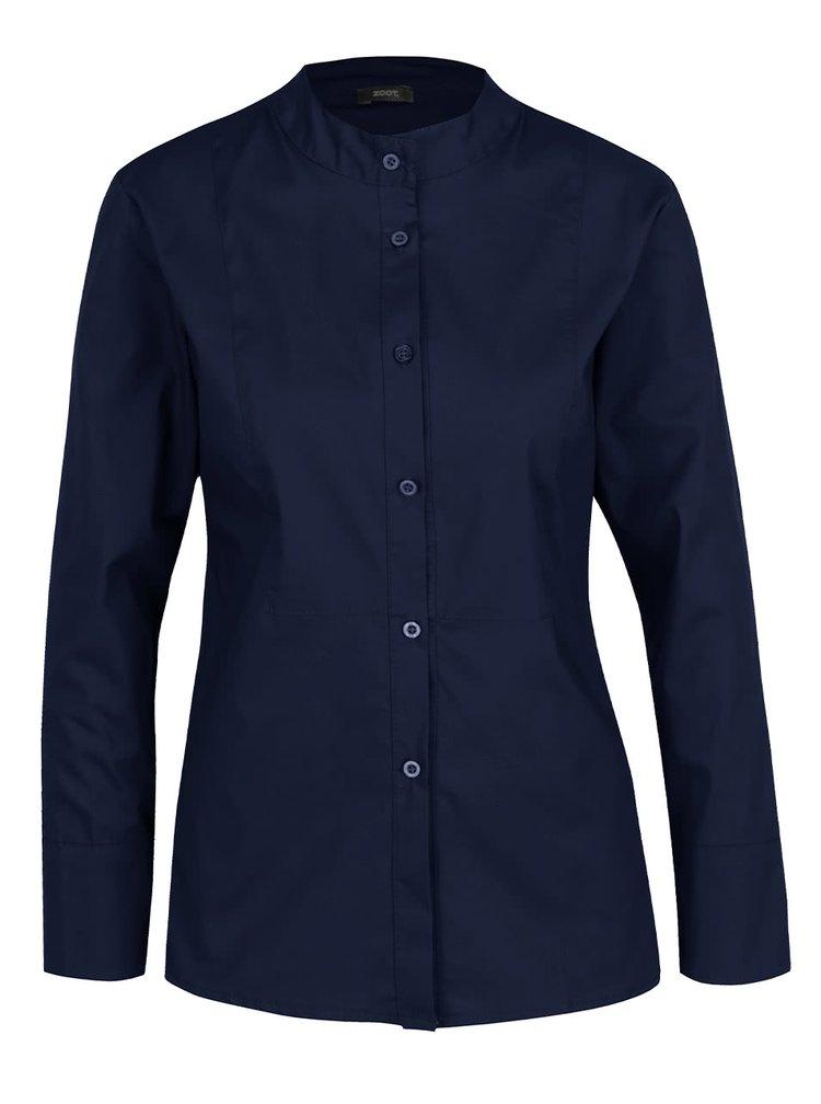 Tmavě modrá košile bez límečku ZOOT