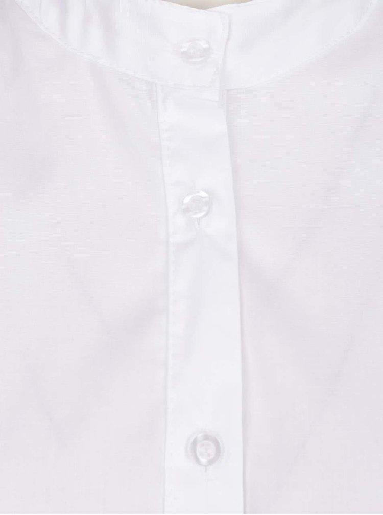 Camasa alba ZOOT cu guler tunica