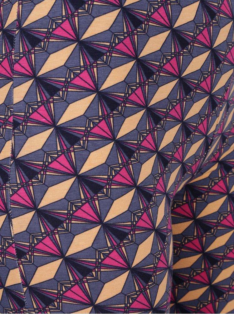 Růžovo-šedé vzorované legíny Tranquillo Almuth