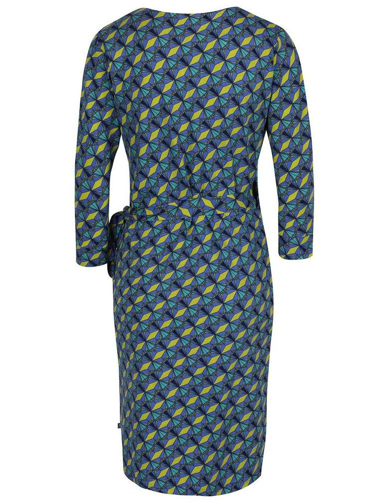 Zeleno-modré vzorované zavinovací šaty Tranquillo Juliane