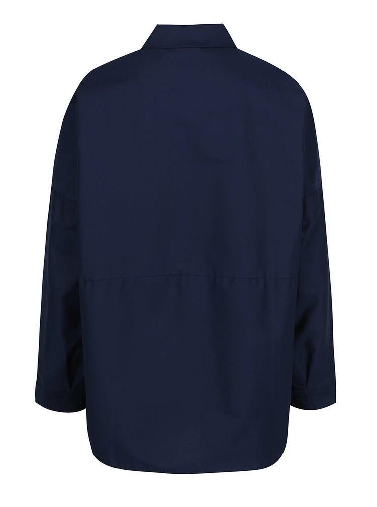 Tmavě modrá oversize halenka s límečkem ZOOT